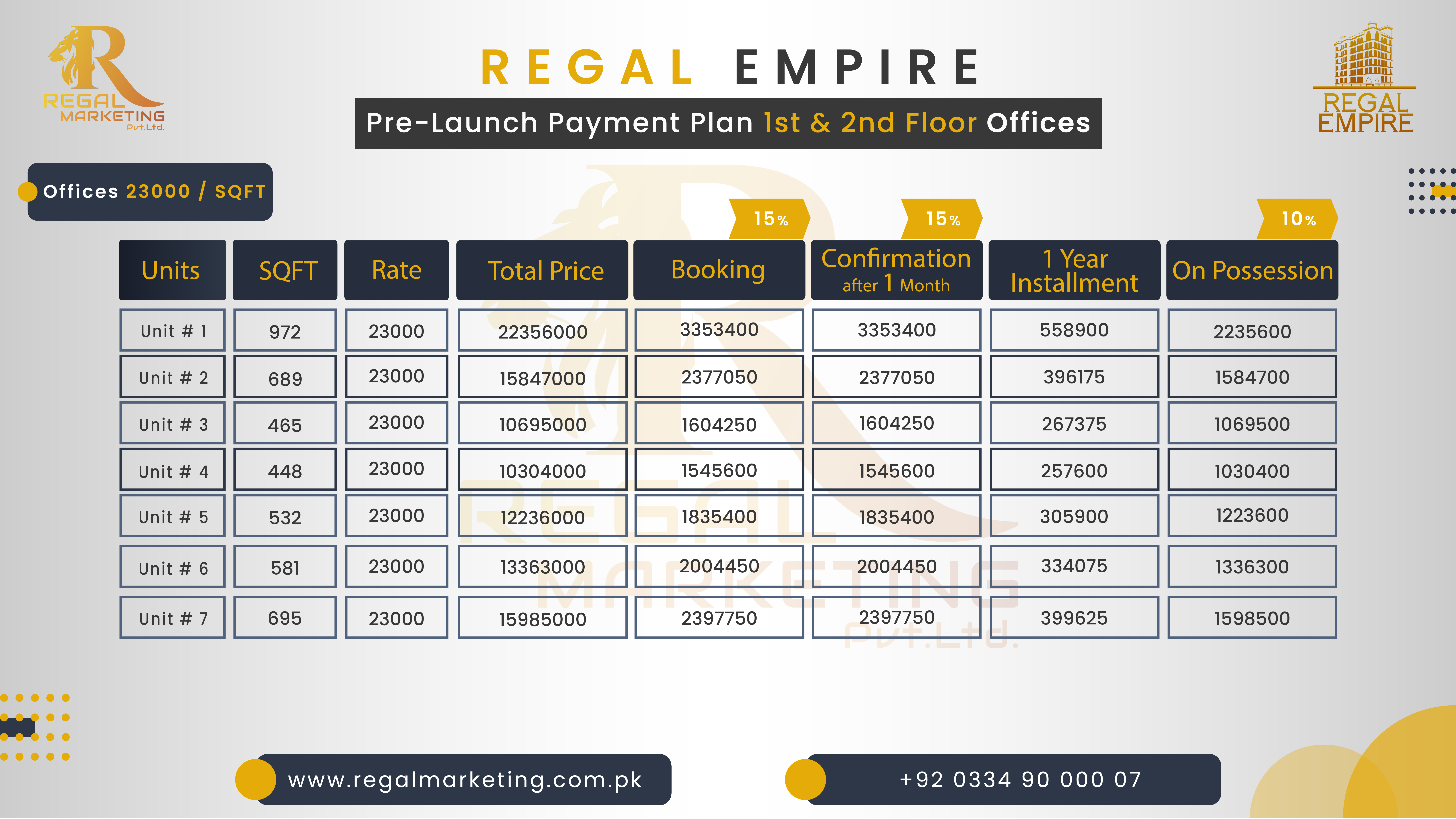 Payment Plan Regal Empire 1and 2Floor New-01