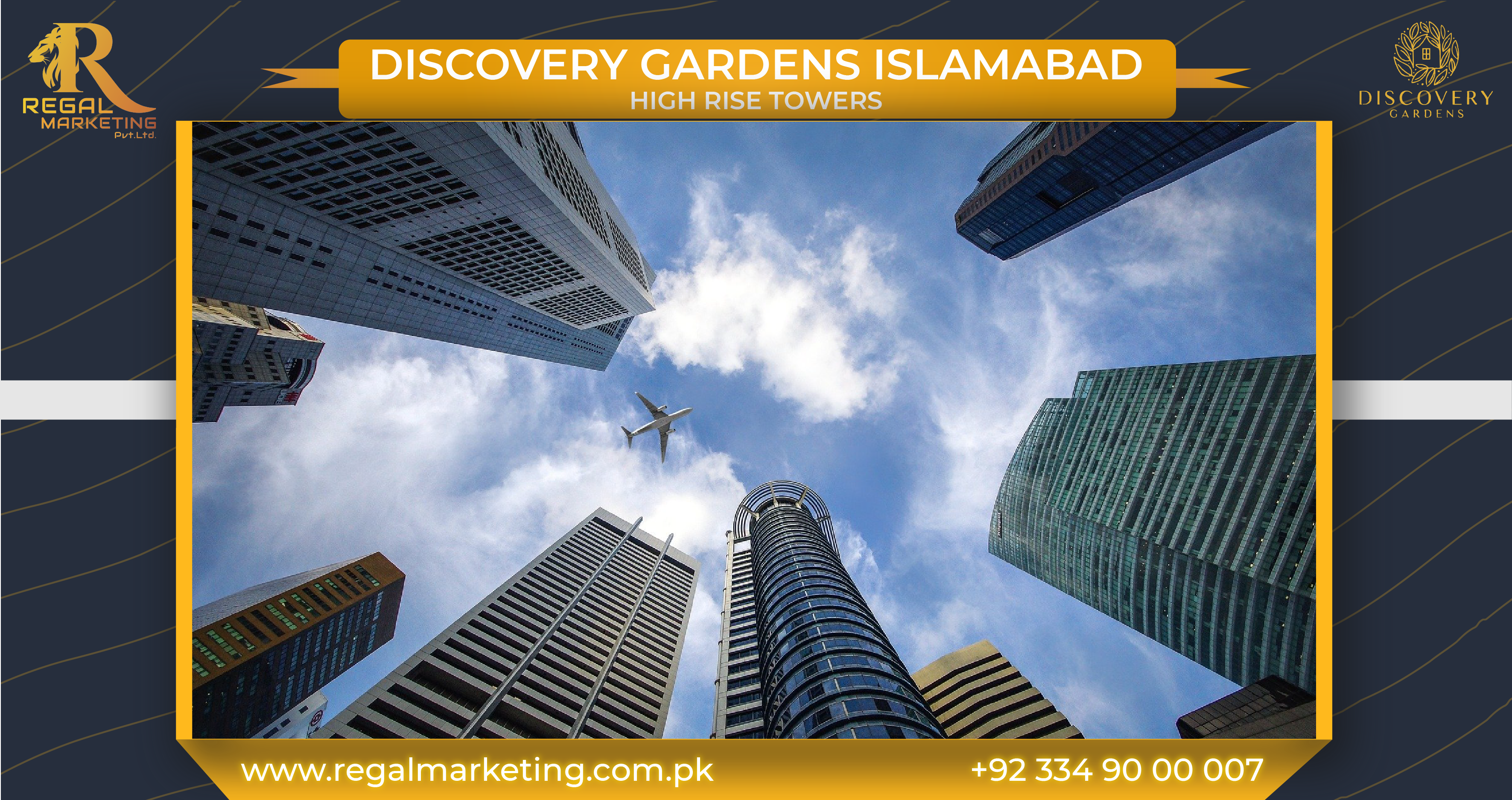 High Rise Towers in Discovery Gardens Islamabad