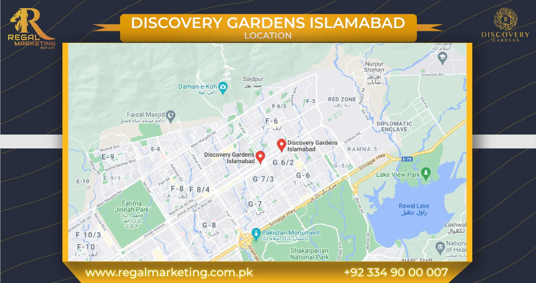 Discovery Gardens Islamabad Locations